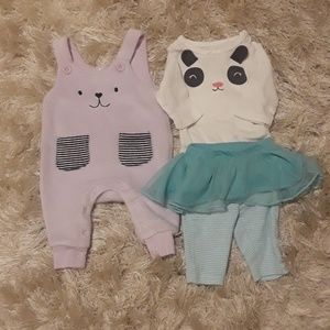 2 Carters Newborn Outfits
